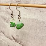 3 stack sea glass earrings